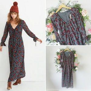 Madewell Willowleaf Tie-Sleeve Maxi Dress